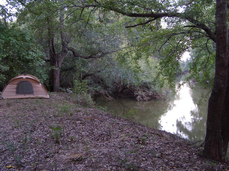 Camped on the River